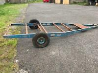 Caravan chassis car trailer