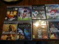 JOBLOT OF 8 GAMES FOR PS3 PLAYSTATION 3 AVATAR PRINCE OF PERSIA NBA TRANSFORMERS FIFA