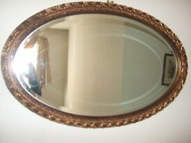 STUNNING LARGE GILT VICTORIAN MIRROR / OVERMANTLE, BEVELLED EDGE TO GLASS