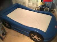 Little Tikes boy's toddler car bed