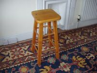 SOLID PINE KITCHEN STOOL