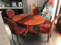 Solid Dining table and 4 chairs