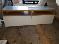 Ikea glass top tv stand