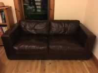 Tetrad Seattle Brown Leather Sofa
