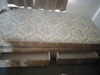 Single bed with 2 draws