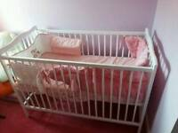 white cot! hardly used! bought 2016