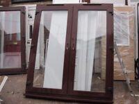 1800 x 2100 Rosewood UPVC French Doors (USED)