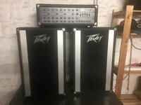 Peavey PA Mixer amp and speakers