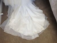 Lace fish tail wedding dress perfect condition