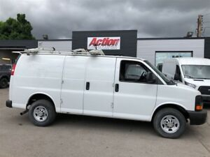 2014 Chevrolet Express 2500  drop down ladder rack