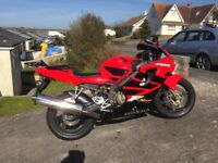 CBR600FS. Red and black. One owner from new. Low mileage. Good condition