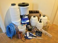 Everything you need to start all grain or kit brewing. Brew your own delicious beers and lagers!