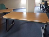 Steelcase beech office desks ideal for new office fit out