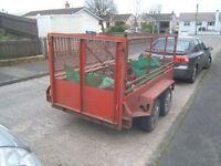 Cheap 8x4 twin wheel trailer