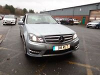 MERCEDES-BENZ C CLASS C350 CDI BLUEEFFICIENCY AMG SPORT 4DR AUTO (silver) 2013