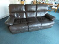 Free Faux Leather Settee