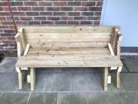 5foot folding wooden picnic table