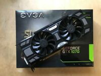 EVGA Geforce GTX 1070 SC 8Gb Superclocked Nvidia Graphic Card with 4.6 year warranty (2 Available)