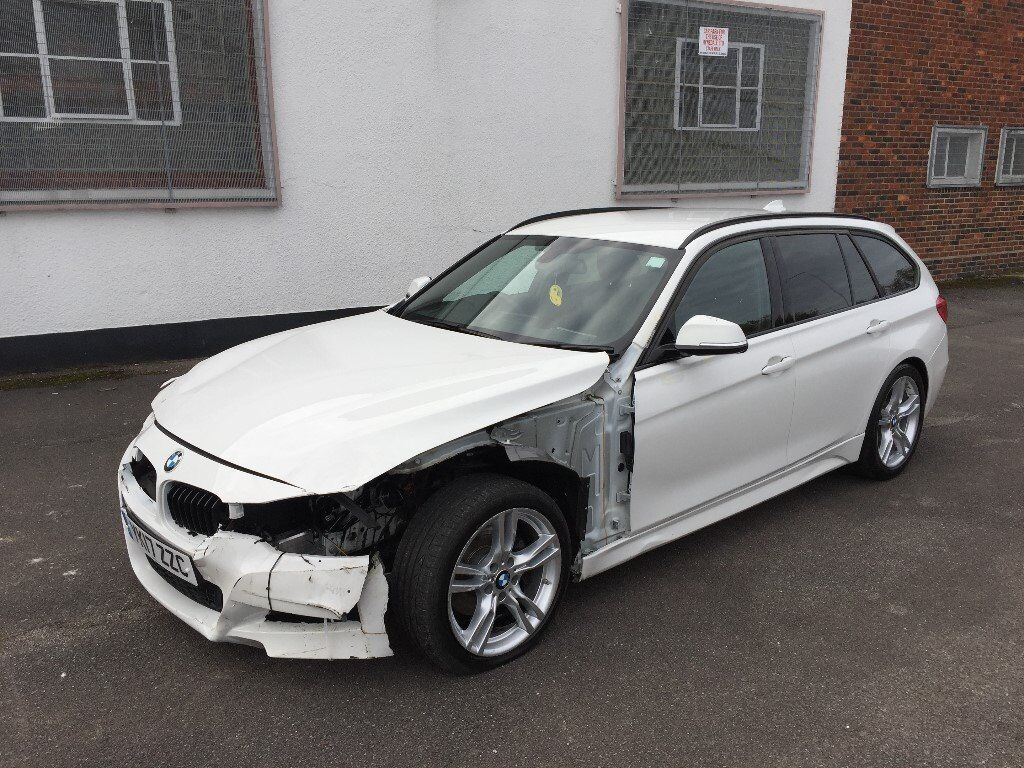 2017 17 bmw 320d m sport automatic f31 estate white damaged salvage repairable in ilford. Black Bedroom Furniture Sets. Home Design Ideas