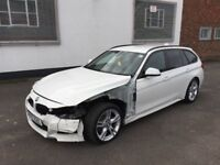 2017 17 BMW 320D M SPORT AUTOMATIC F31 ESTATE WHITE DAMAGED SALVAGE REPAIRABLE