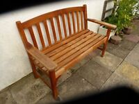 Sturdy Hardwood 2 seater Bench