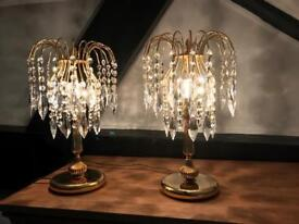 Crystal Glass Table Lamps