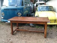 Stunning French oak farmhouse refectory table 180x80cm solid oak amazing quality pegged joints