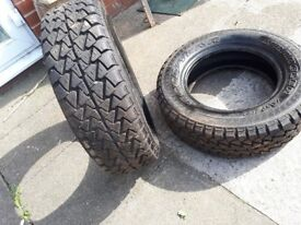 2 Goodyear tyres