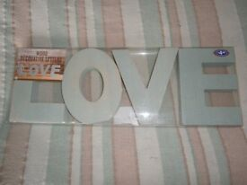 LOVE LETTER ORNAMENT - WOODEN LARGE LETTERS