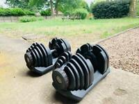 90lbs/ 40.8kg Adjustable Bowflex Style Dumbbells Brand New And Still Boxed (pair)