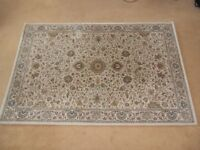 Pure Wool patterned rug. 1.8M x 1.2M