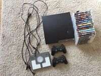 For Sale PS3 console + 2 controllers +14 games included LEGO dimensions!
