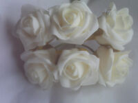 5 BUNCHES OF LARGE CREAMY IVORY FOAM WEDDING FLOWERS/ BOUQUETS/ROSES