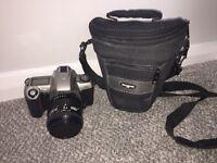 Nikon F65 SLR film camera with 35-80mm & Samsonite case