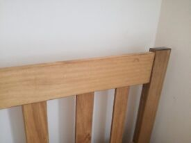 Double Bed Frame (solid wood) + Mattress