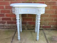 Regency style lamp table with drawer.