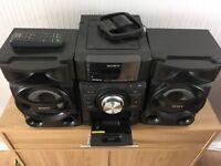 Sony hi-fi with iPod docking station