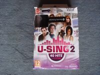 U Sing 2 microphone and game.