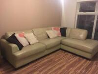 Large Cream Corner Sofa