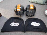 2 X Arashi Open Face Helmets