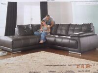 Real leather corner brown sofa in a very good condition