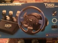Thrustmaster T150 Pro Steering Wheel (with 3 Pedal Set) for PC-PS3-PS4 and Racing Stand