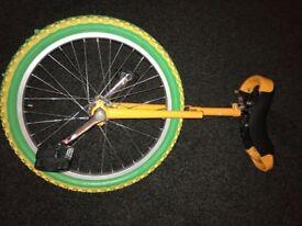 Yellow unicycle
