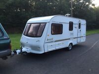 Elddis avante 2002 524/ 4 berth end changing facility full awning Electric heating system three