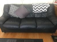 2 x Real leather sofas!!