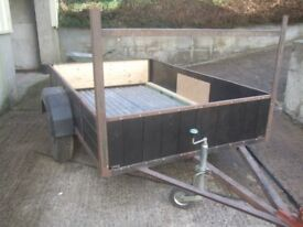 Large single axle Car Trailer for Farm, Stables etc.
