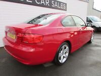 2012 BMW 320d 3 Series Coupe, Crimson Red with Grey Leather interior, Manual, Diesel, 2.0 litre