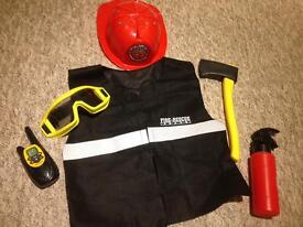 Fireman outfit for 3-6 year old.