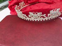 Sparkling Bridal heart shaped tiara