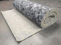 2 rolls of 10mm carpet underlay